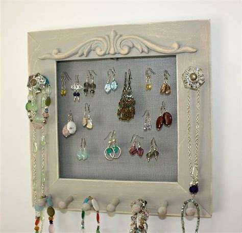 how to make jewelry holder picture frame 50 ways to hang your jewelry healthy