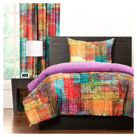 multi colored comforter sets bed in a bag sets and comforters that rock