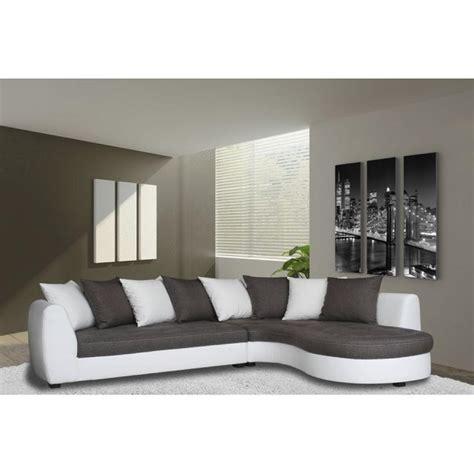 photos canap 233 d angle gris et blanc pas cher