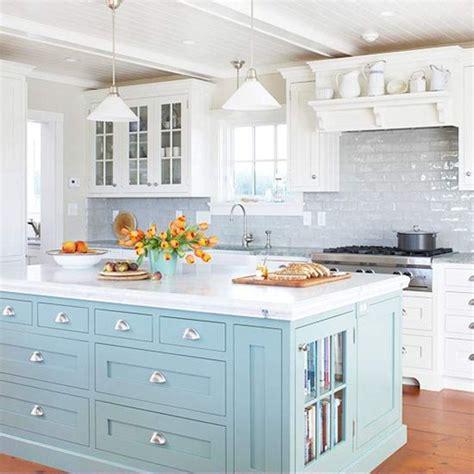 Pale Blue Kitchen Cabinets by Bhg Centsational Style
