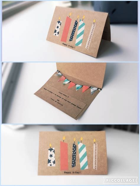 make your own happy birthday card best 25 washi ideas on diy washi