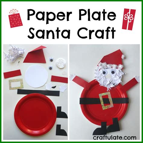 paper plate santa craft paper plate activities search results