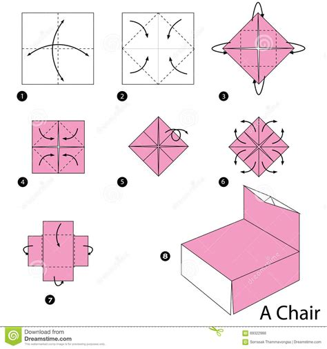 how to make an origami chair step by step how to make origami a chair