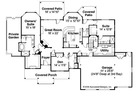 floor plans aflfpw76173 1 story craftsman home with one story craftsman floor plans studio design