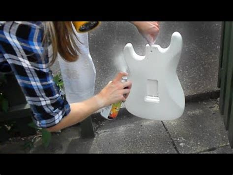 spray painting your guitar guitar project part 5 spray painting