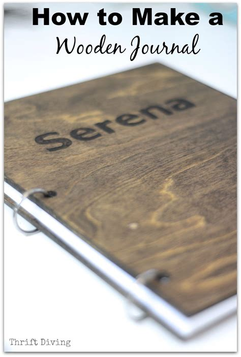 how to make wooden how to make a diy journal out of wood