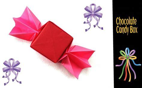 chocolate origami origami paper chocolate box origami