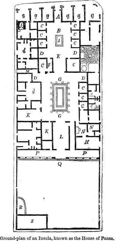pompeian house plan pompeian house plan images floor plan of a pompeian house