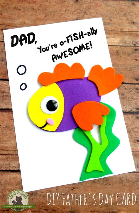 fathers day craft diy s day fish card with printable template