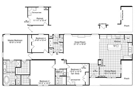 palm harbor mobile home floor plans palm harbor s the yukon kht368a2 or 30683y is a