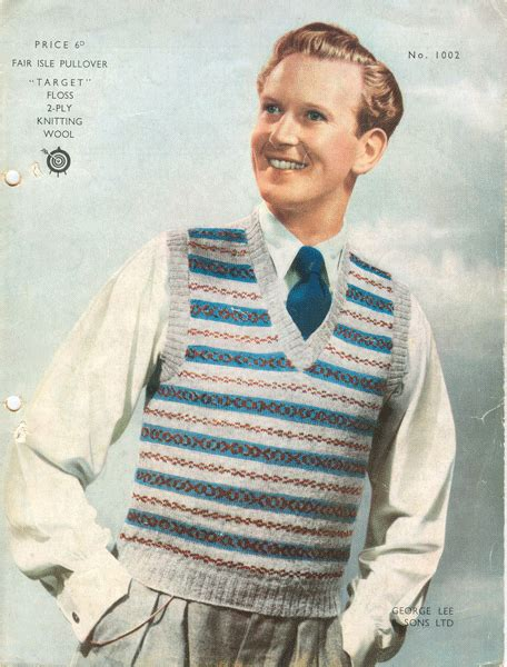 mens fair isle knitting patterns vintage mens fair isle knitting patterns available from