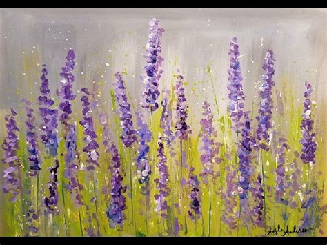 acrylic painting step by step tutorial easy lavender impressionist acrylic tutorial live free
