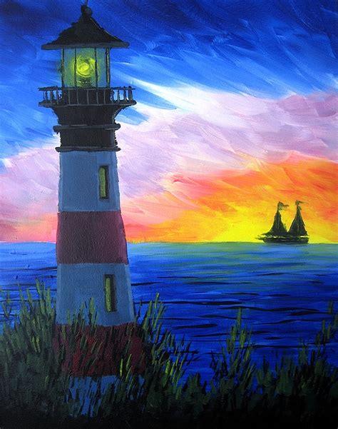 paint nite a island city paint nite rainbow light house