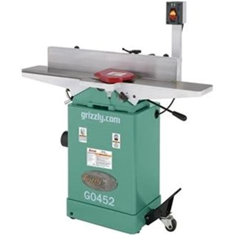 woodworking jointer reviews review grizzly g0452 6 quot jointer by gray
