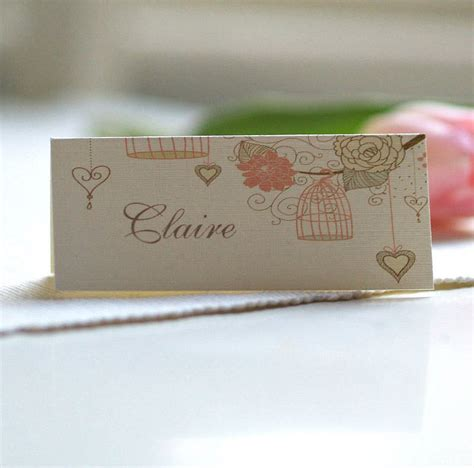 how to make name place cards personalised birdcage place name cards by beautiful day