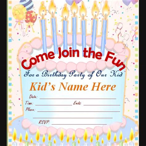 make birthday invitation cards for free sle birthday invitation template 40 documents in pdf