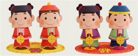 canon paper crafts message doll celebrate new year with kid