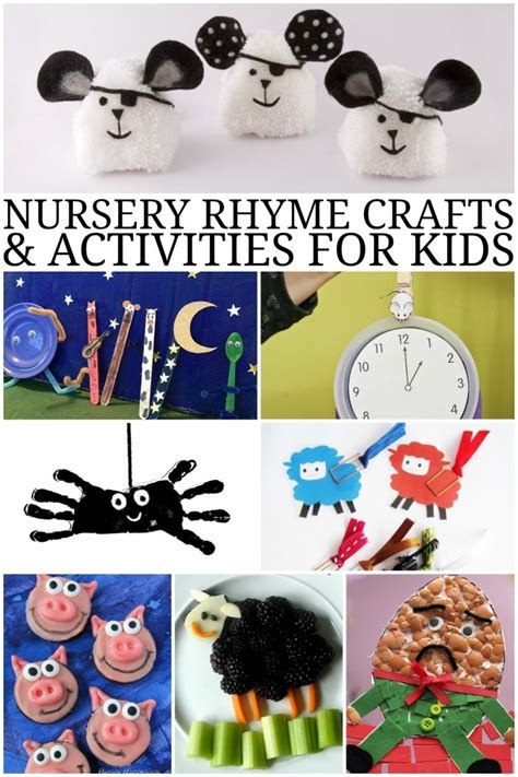 crafts and activities for nursery rhyme crafts and activities for frugal eh