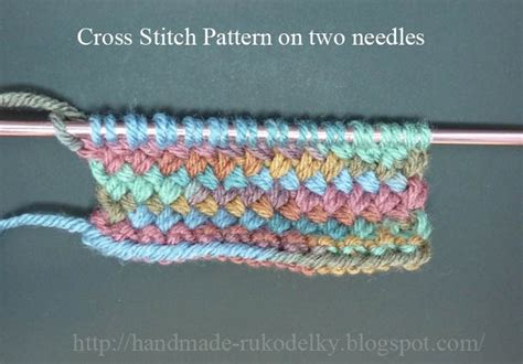 how to knit with four needles made rukodelky cross stitch knitted on circular