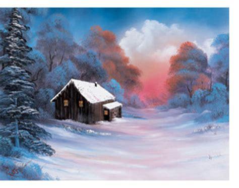 bob ross painting winter materials