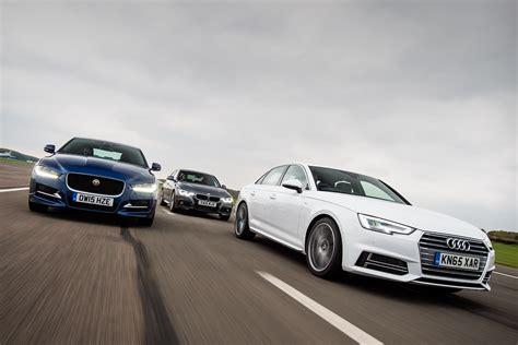 Bmw 3 Series Vs Audi A4 by Audi A4 Vs Jaguar Xe Bmw 3 Series Auto Express