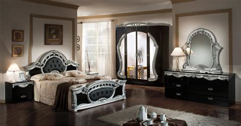 classic italian bedroom furniture modrest rococco italian classic black silver bedroom set