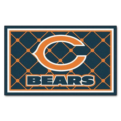 chicago bears area rug fanmats chicago bears 4 ft x 6 ft area rug 6567 the