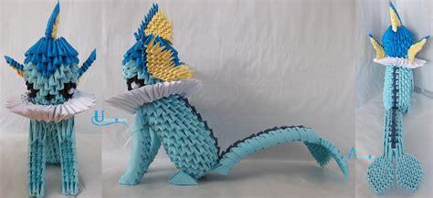 eevee origami 3d origami vaporeon by jobe3do on deviantart