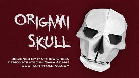 tutorial skull origami tutorial skull matthew green