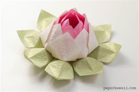 modular flower origami modular origami lotus flower tutorial paper kawaii