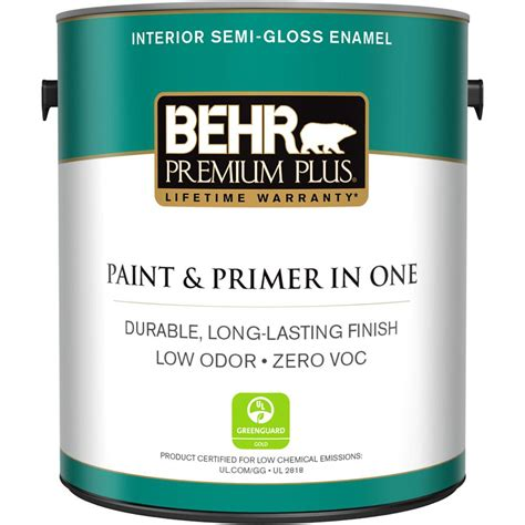 home depot ultra paint behr premium plus 1 gal ultra white semi gloss