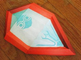 mirror paper craft papercraft mirror shield paperkraft net free