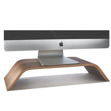 stands for desk wooden monitor stand desktop walnut imac riser