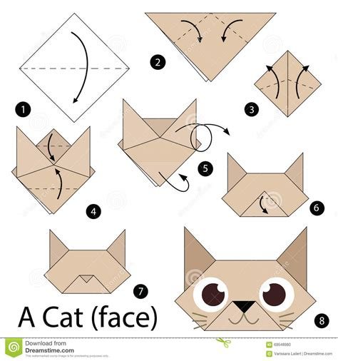 how to origami cat step by step how to make origami a cat stock