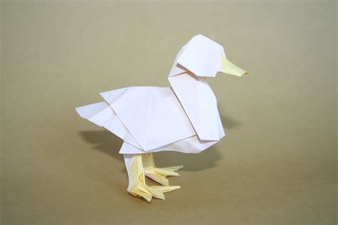 origami duck free coloring pages origami duck designed by katsuta