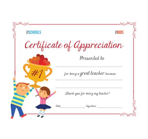 sample thank you certificate template 10 documents
