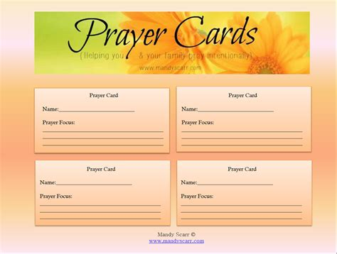 how to make a prayer card 8 best images of free printable memorial prayer cards