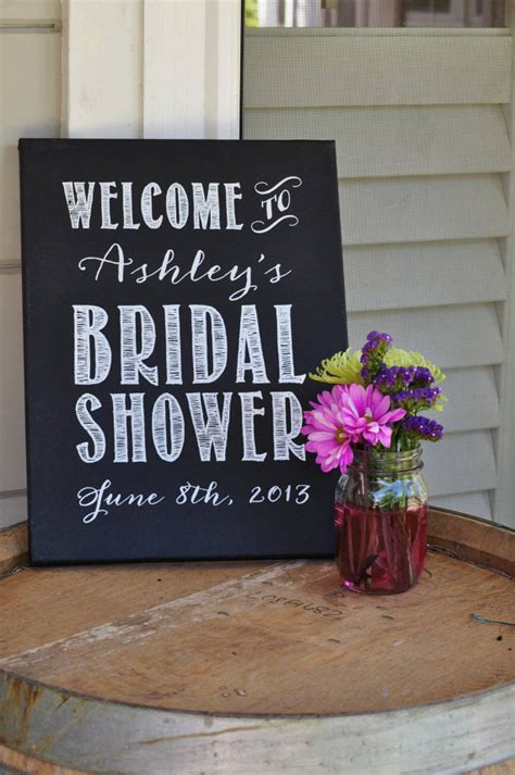 chalkboard paint signs custom bridal shower sign chalkboard painted by