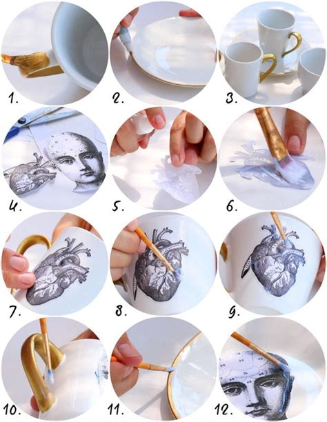dishwasher safe decoupage decoupage dishwasher safe dishes diy 183 how to make a cup
