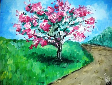 painting with a twist locations plano blooming crepe myrtle thursday january 26 2017