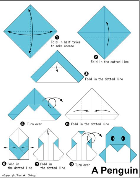 simple easy origami penguin easy origami for