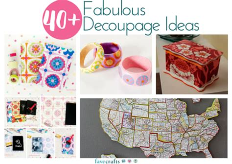 decoupage objects 40 fabulous decoupage ideas favecrafts