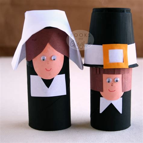 pilgrim crafts for simple toilet paper roll pilgrims and a story of the