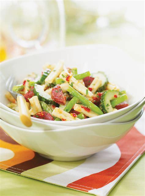 salade de p 226 tes au chorizo et aux l 233 gumes verts ricardo