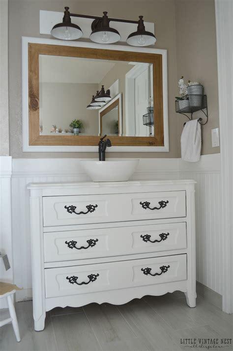 farmhouse bathroom vanity farmhouse master bathroom reveal vintage nest