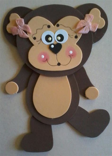 monkey crafts for foam monkey craft 2 171 funnycrafts