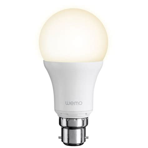led bayonet light bulb belkin wemo led single light bulb bayonet homeware