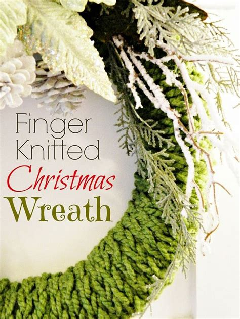 finger knit wreath 67 best images about finger knitting on yarns