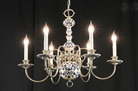 delft chandelier sold blue delft china pewter vintage chandelier harp
