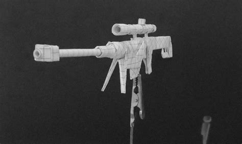 origami gun origami guns sniper rifle by solidmark on deviantart